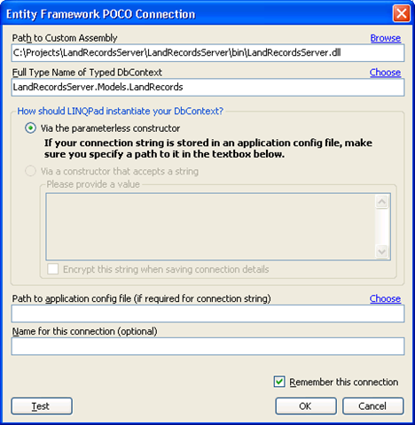 Kevin LaBranche - Connecting LinqPad to Entity Framework